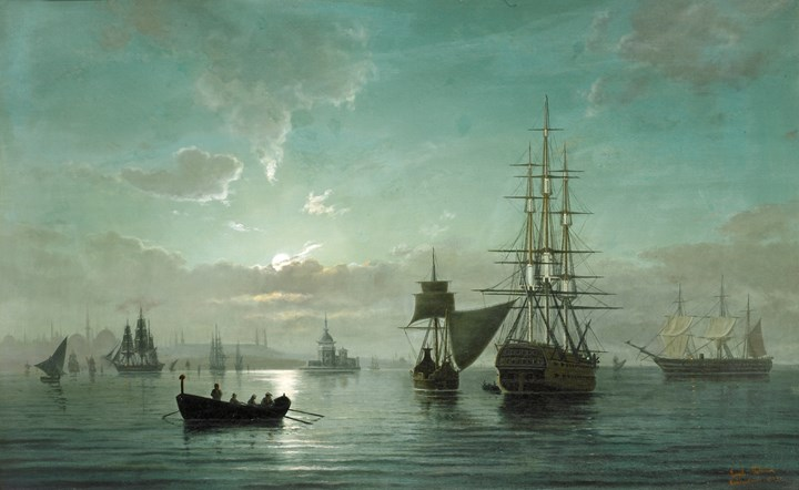 Ships at Night, Constantinople
