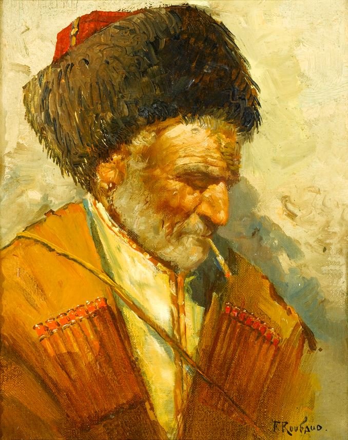 Franz Alekseevich  Roubaud - Study of a Cossack | MasterArt