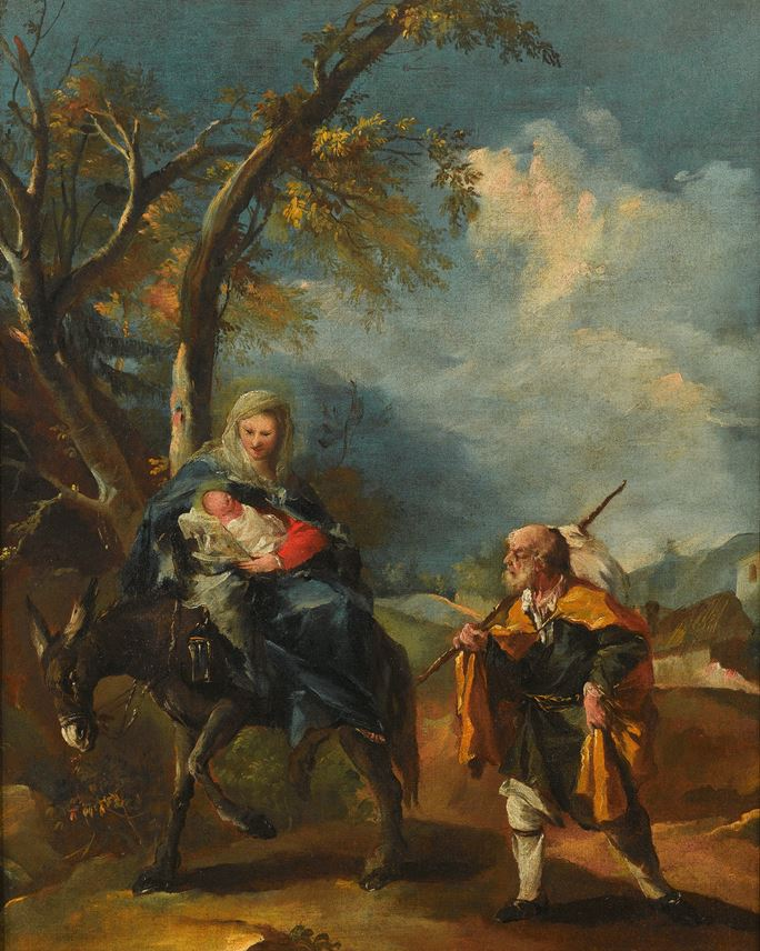 Gianantonio  Guardi  - The Flight into Egypt | MasterArt