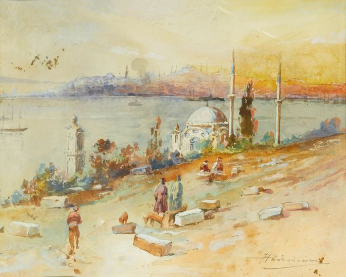 J Pavlikevitch - Sunset on the Golden Horn, Istanbul | MasterArt
