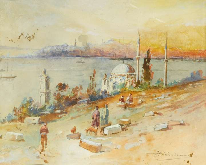 Sunset on the Golden Horn, Istanbul