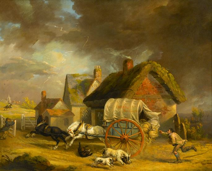 James Ward - The Runaway Wagon | MasterArt