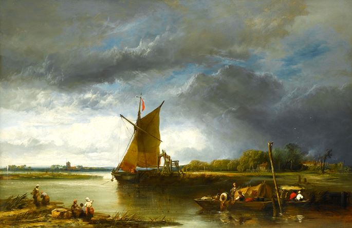 James Webb - A Barge in a Norfolk Landscape | MasterArt
