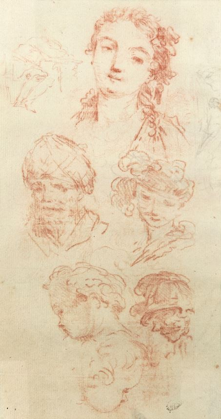 Jean-Baptiste Le Prince - Study of Heads | MasterArt