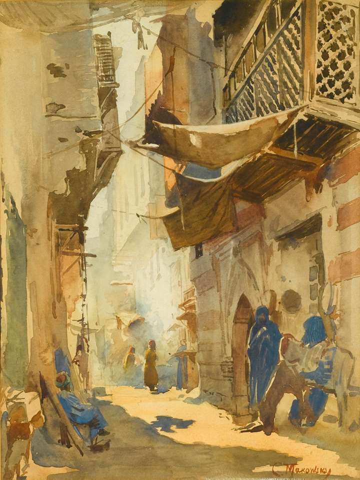 A Study for 'A Street Scene in Cairo'
