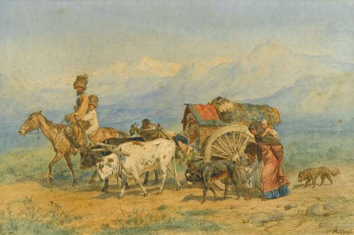 Travellers in a Caucasian Landscape