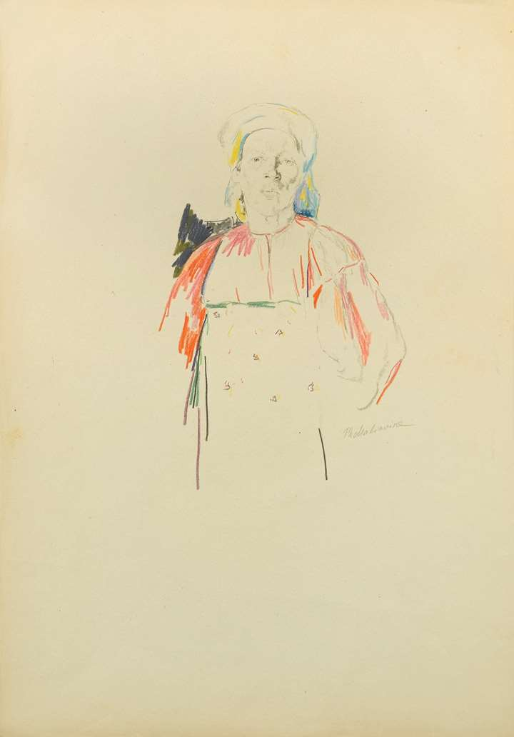 Head and Torso of a Woman in Russian Dress