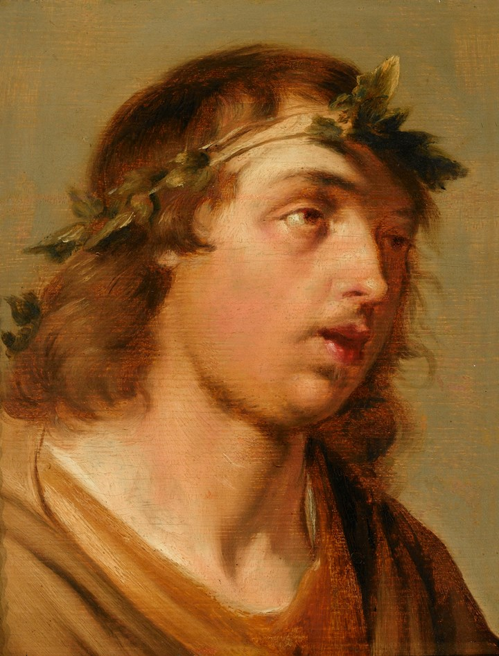 Portrait of a Young Man as Bacchus