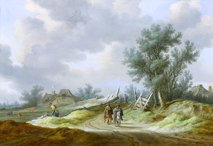 Pieter de Neyn - Travellers on a Path, in a Dune Landscape | MasterArt