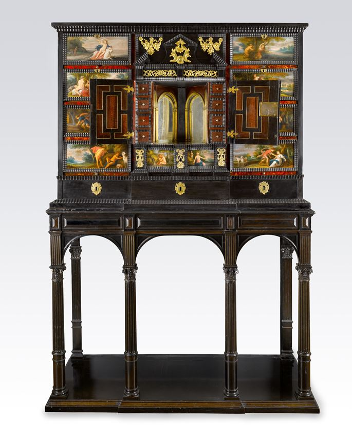 School Antwerp - A Gilt-Metal-Mounted Ebony, Ebonized, Rosewood, Tortoiseshell and Ivory Cabinet on a Stand, Decorated with Scenes from Ovid's Metamorphoses | MasterArt