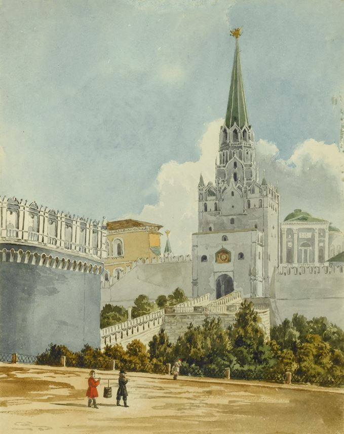 School English - The Trinity Gate, Moscow & The Kremlin from the Moskvoretsky Bridge | MasterArt