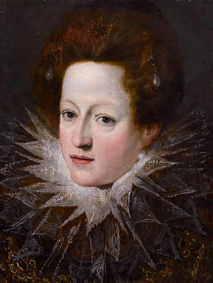 A Portrait of a Noblewoman with a Lace Collar
