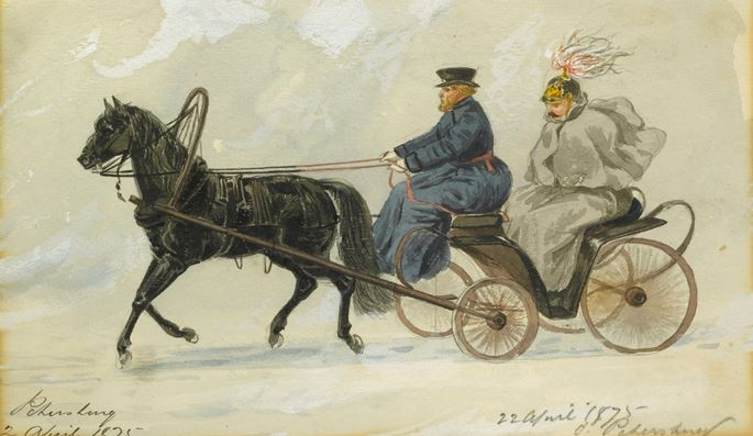 William McConnell - An Officer in a Horse-Drawn Carriage, St. Petersburg | MasterArt