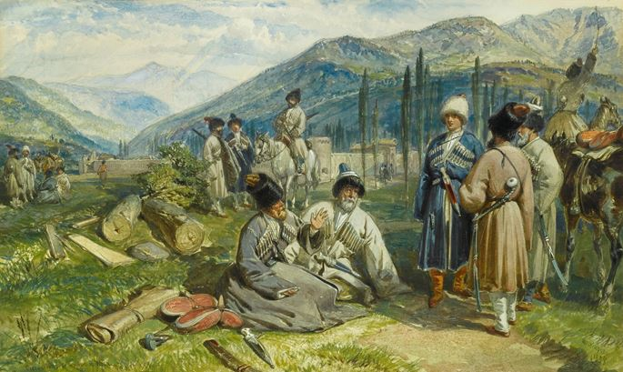 William Simpson - Circassians at the Fort of Waia | MasterArt