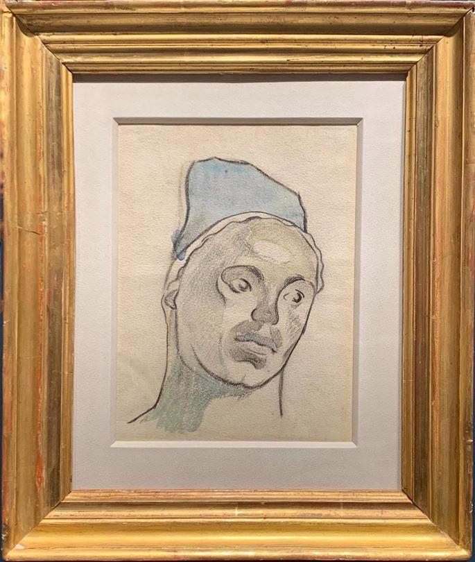Paul GAUGUIN - The Head of a Breton Woman | MasterArt