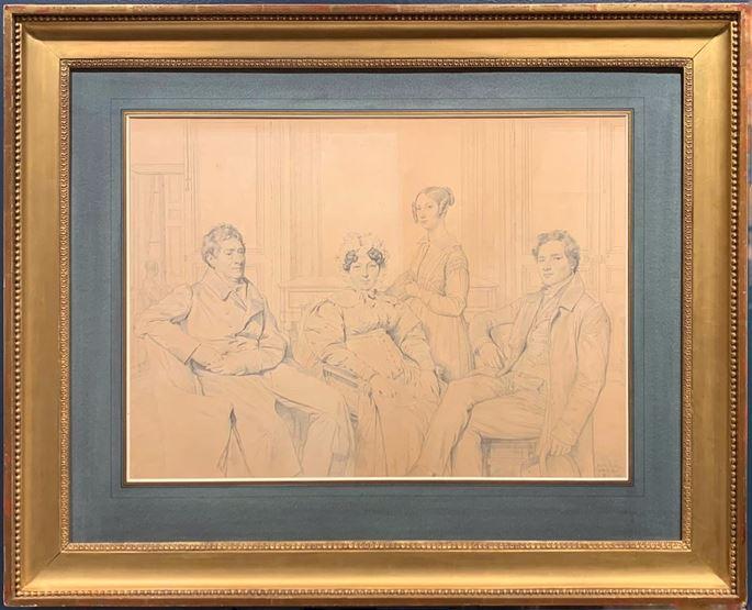 Jean-Auguste-Dominique  INGRES - The Gatteaux Family | MasterArt