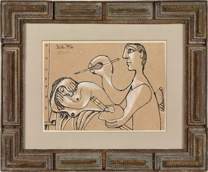 Pablo Picasso - The Artist and his Model (Le peintre et son modèle) | MasterArt