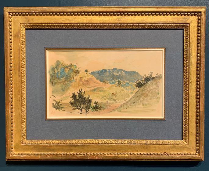 Eugène Delacroix - A View of Eaux-Bonnes in the Pyrénées | MasterArt
