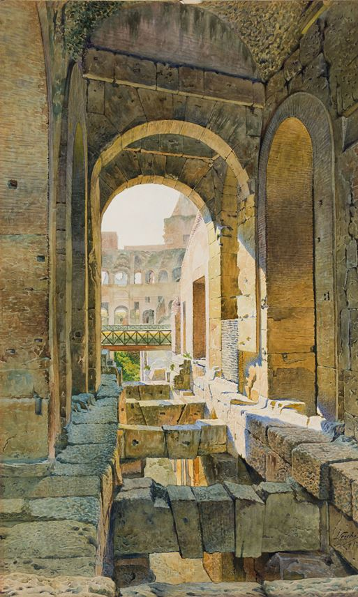 Lorenzo CECCHI - A Passage in the Colosseum in Rome | MasterArt