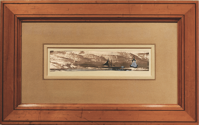 Victor   HUGO - Seascape with Ships in Fog | MasterArt