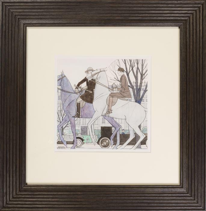 Bernard BOUTET DE MONVEL - Two Equestriennes   MasterArt