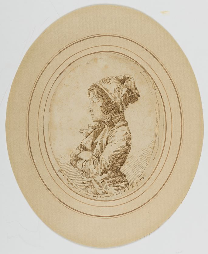 Philippe-Auguste HENNEQUIN - A Profile Portrait of a Young Boy in Revolutionary Costume   MasterArt