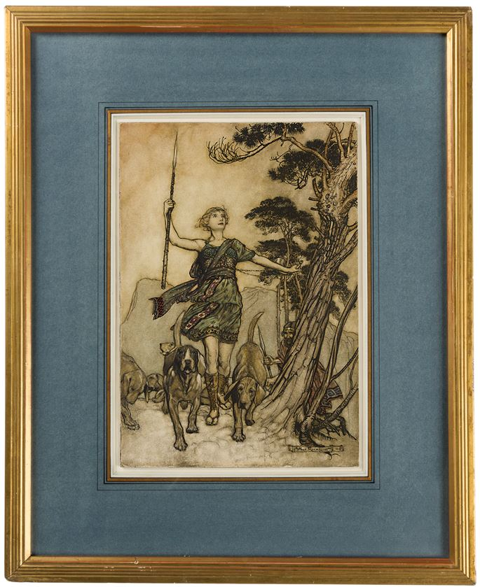 Arthur RACKHAM - 'Up to the Mountain's Top': Hippolyta and Theseus, from A Midsummer Night's Dream | MasterArt