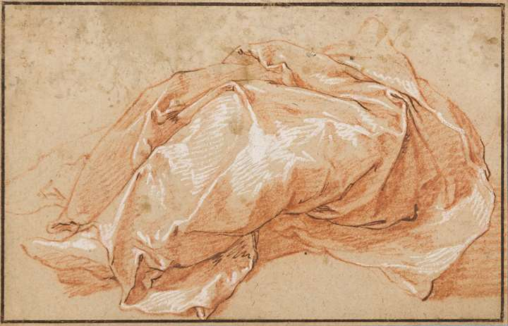Drapery Study of a Seated Figure