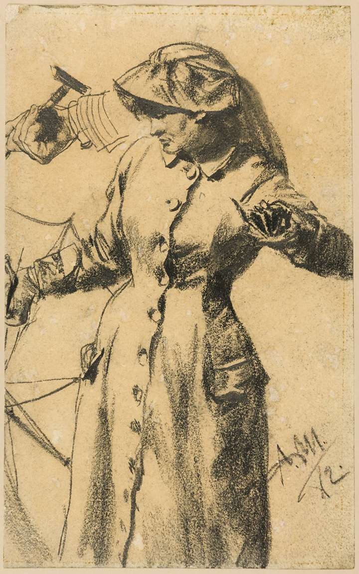 A Woman Holding an Umbrella