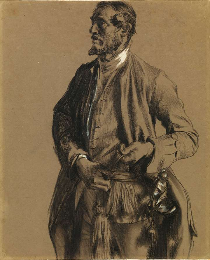 Study for a Portrait of Generalleutnant Hans Karl von Winterfeldt