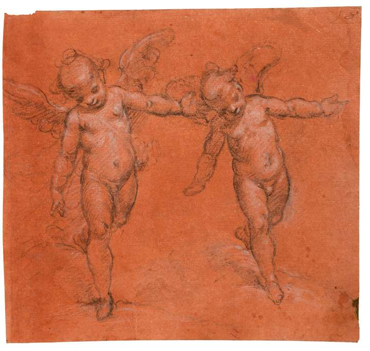 Two Studies of a Winged Putto