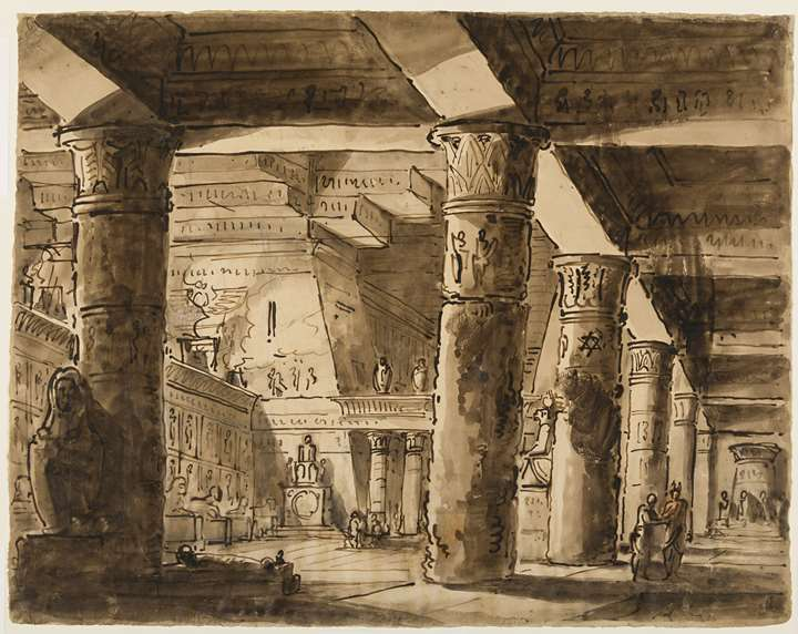 The Interior of an Egyptian Temple
