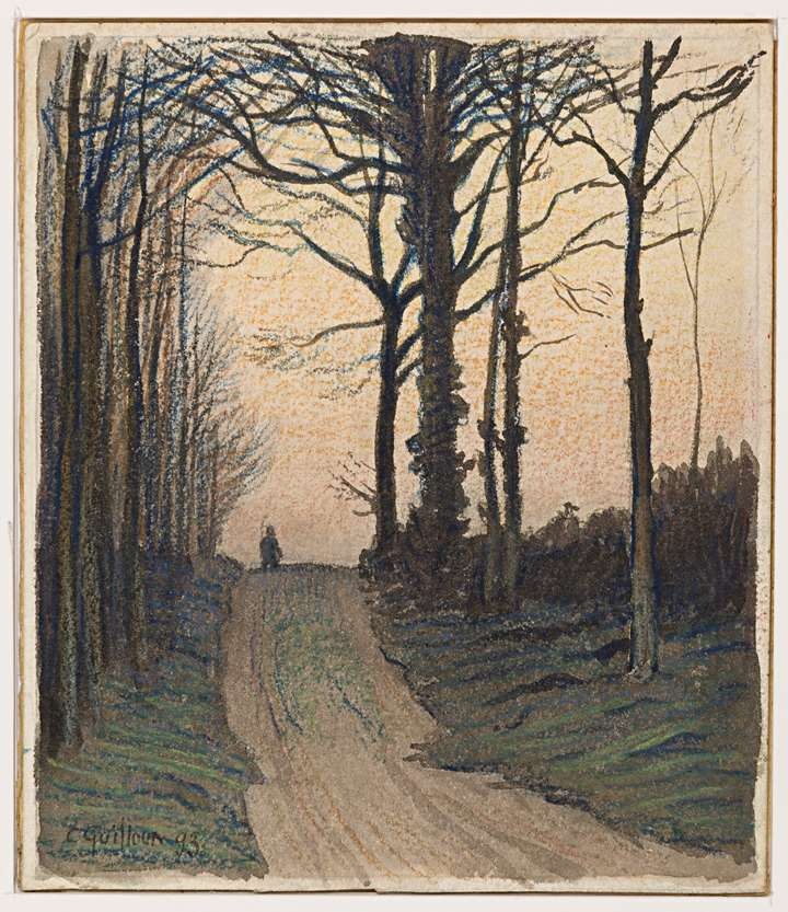 Autumn Landscape with a Figure on a Path