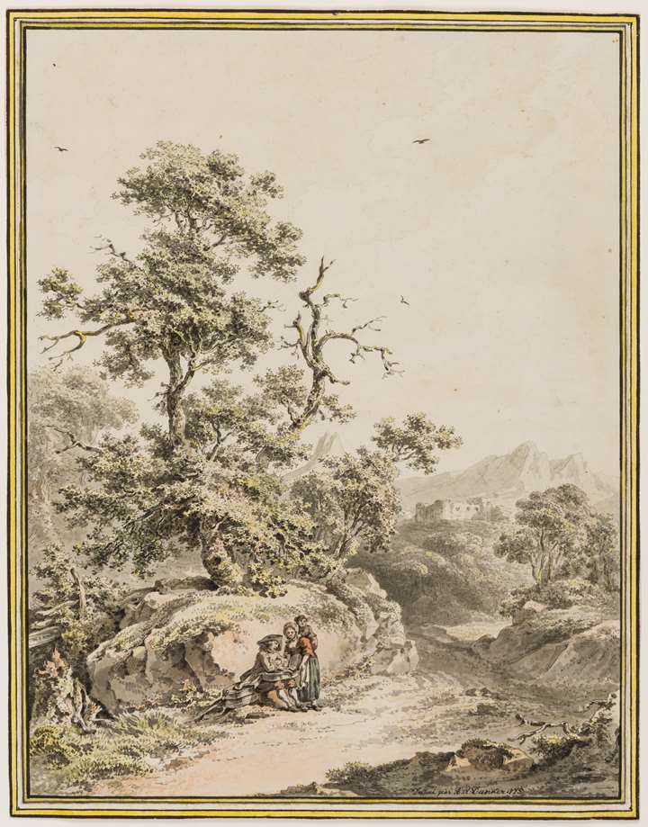 Landscape with a Peasant Family by a Path