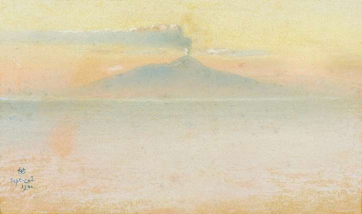 A View of Vesuvius from Capri