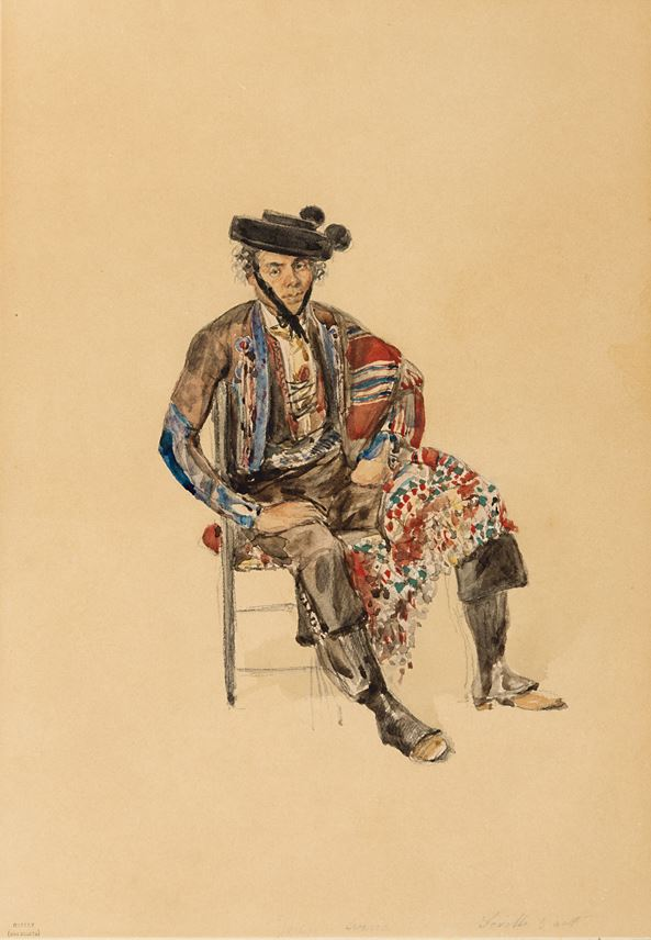 Denis-Marie-Auguste RAFFET - Portrait of the Smuggler Juan Arria, Seated | MasterArt