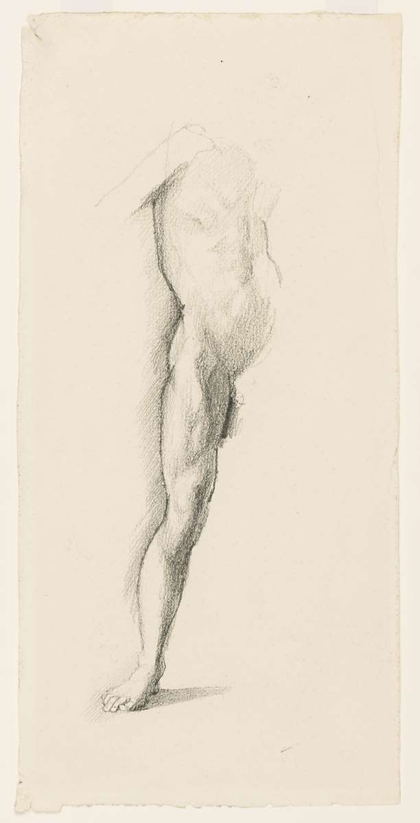 Study of the Torso and Right Leg of a Man