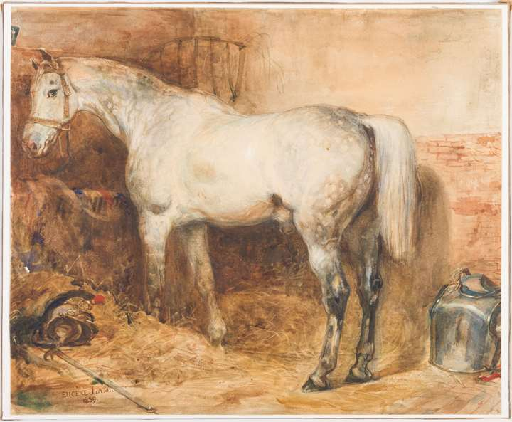 The Horse L'Eclatant in a Stable
