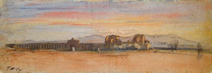 Landscape with Part of the Aurelian Walls of Rome