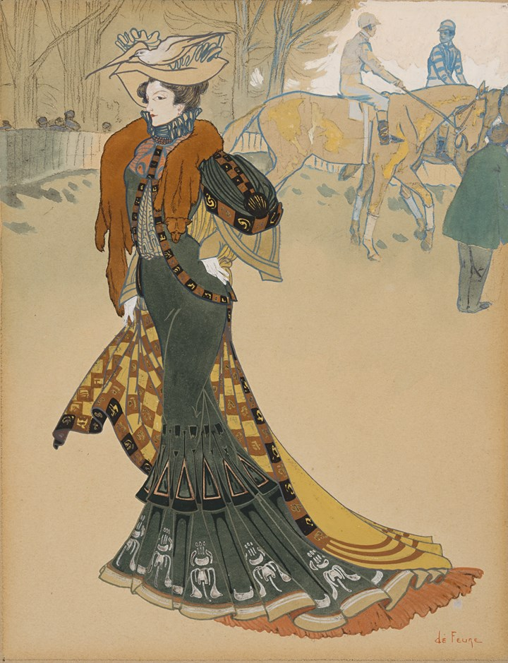Aux Courses: Design for the Cover of Les Modes