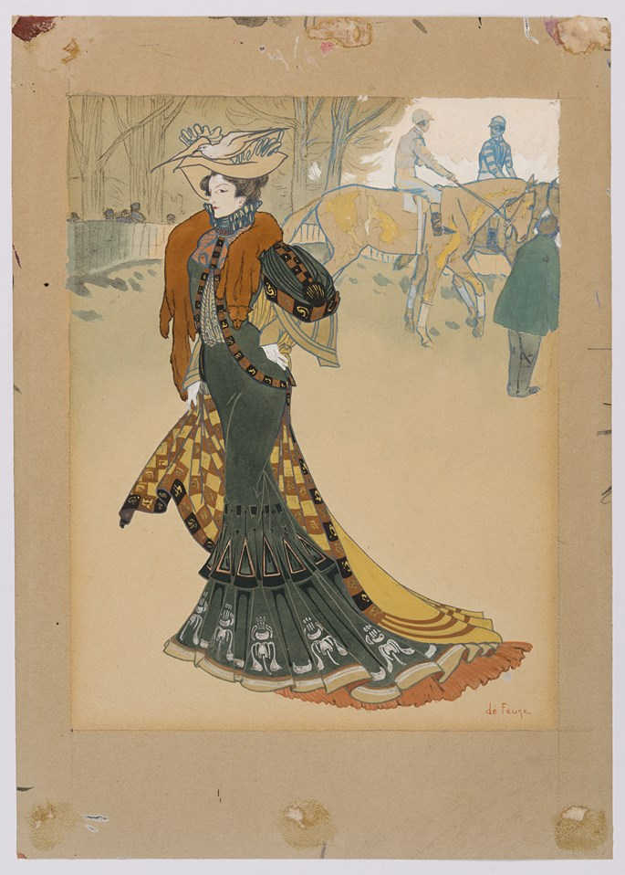 Georges  DE FEURE  - Aux Courses: Design for the Cover of Les Modes | MasterArt