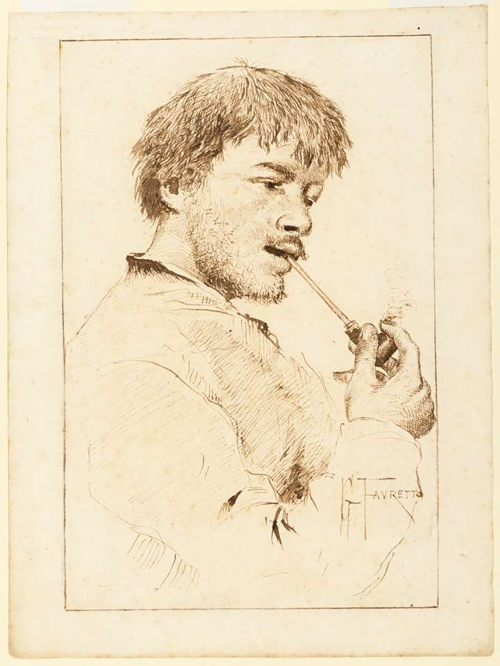 A Man Smoking a Pipe