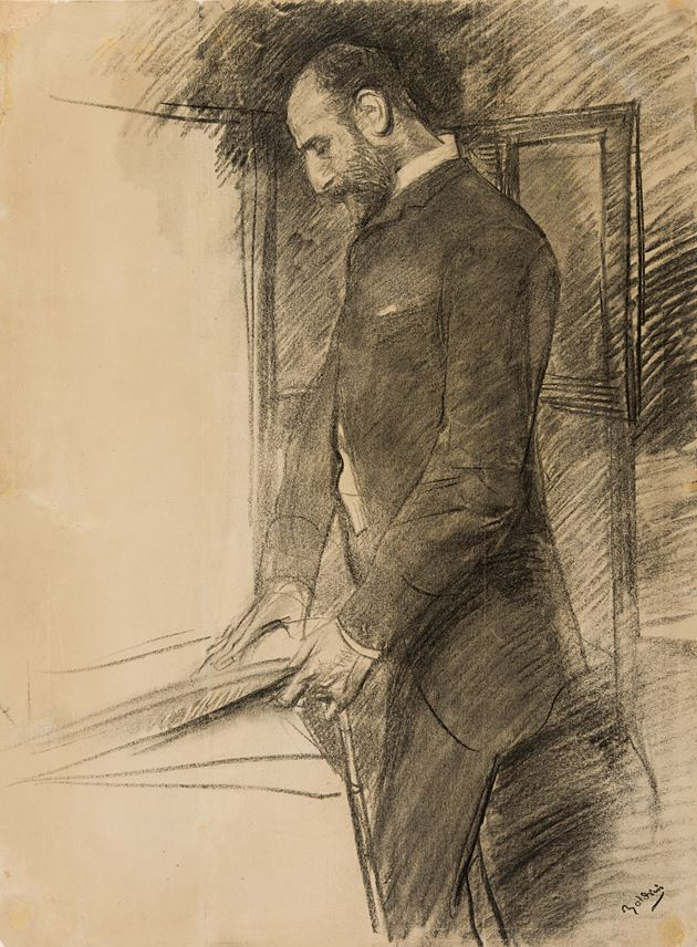 Giovanni BOLDINI - A Man Standing in the Artist's Studio | MasterArt