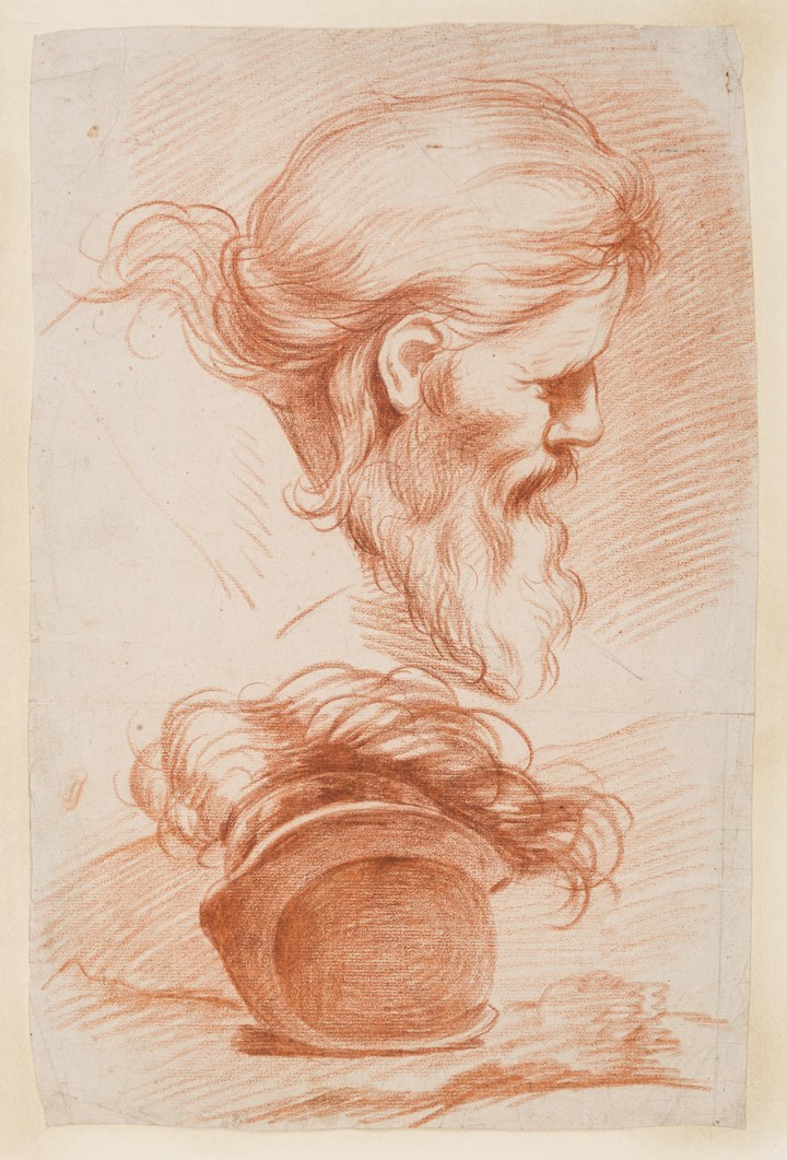 Studies of the Head of a Bearded Man and a Helmet