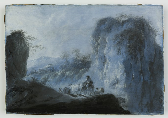 Jean-Baptiste Pillement - Pastoral Landscape with Herdsmen and Cattle | MasterArt