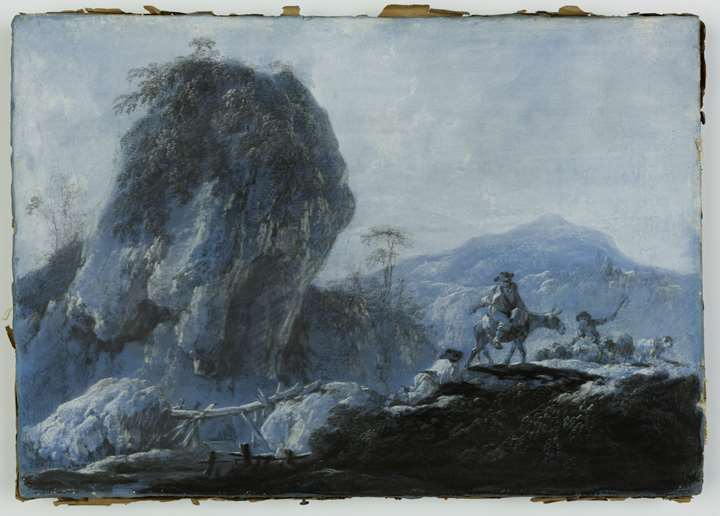 Pastoral Landscape with Peasants and Sheep