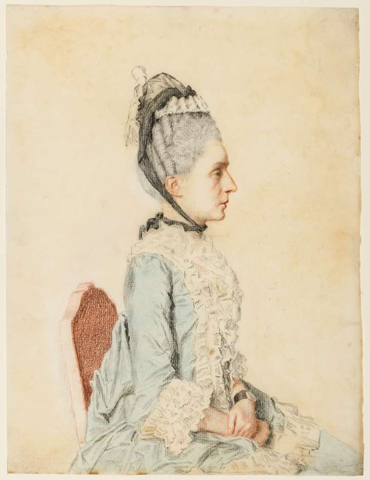 Portrait of a Seated Woman, in Profile to the Right