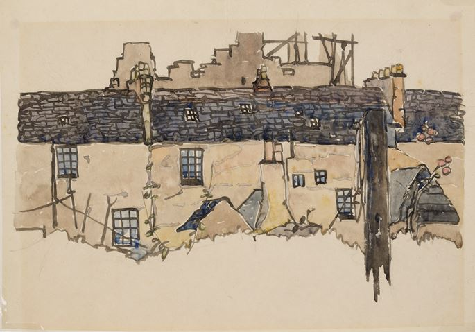 Jessie Marion King - Back of Tenements, Paris | MasterArt