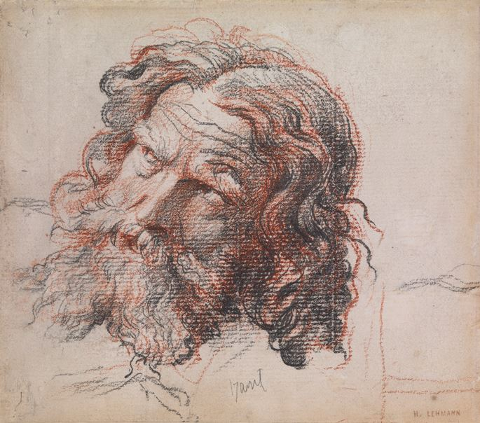 Karl-Ernest-Rudolph-Heinrich Salem LEHMANN - Study of the Head of a Bearded Man | MasterArt