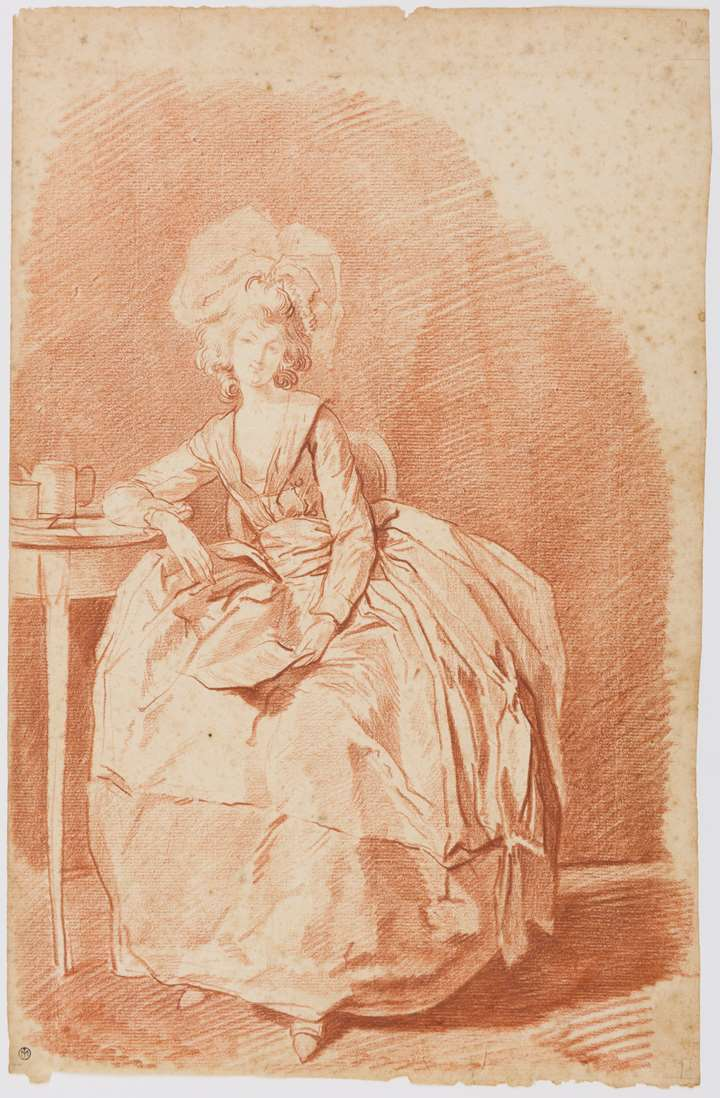 A Young Woman Seated, Holding a Letter